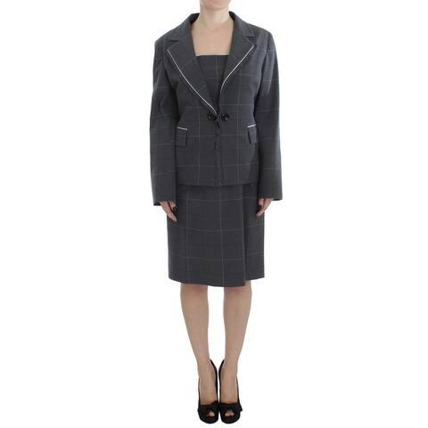 BENCIVENGA Gray Stretch Sheath Dress Suit Women's Set - xxl