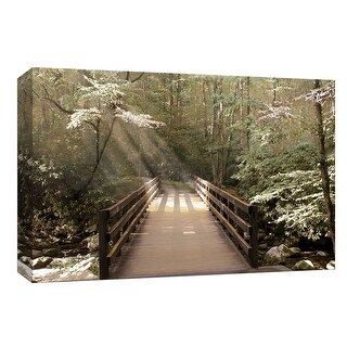 "PTM Images 9-148015  PTM Canvas Collection 8"" x 10"" - ""Footbridge"" Giclee Forests Art Print on Canvas"