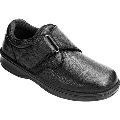 Orthofeet Men's Broadway Black Leather