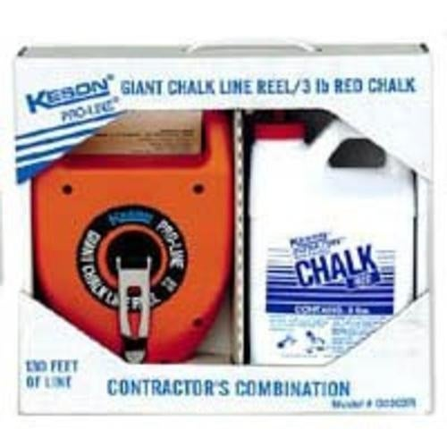 Keson Industries G1303R Chalk Box Giant Red 3 Lb