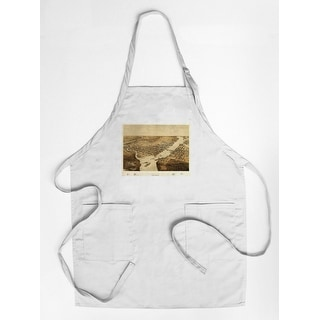 Green Bay, Wisconsin - (1867) - Panoramic Map (Cotton/Polyester Chef's Apron)