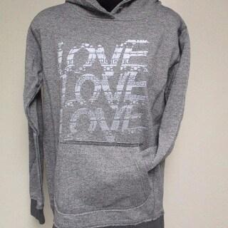 NEW Love Love Love Womens Size S Small Dark Gray Hoodie