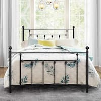 VECELO Metal Platform Bed Victorian Mattress Foundation