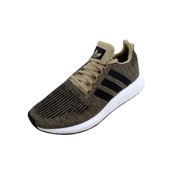 5ef50540b4de0 Shop Adidas Men s Swift Run Raw Gold Black-White CQ2117 - Free ...