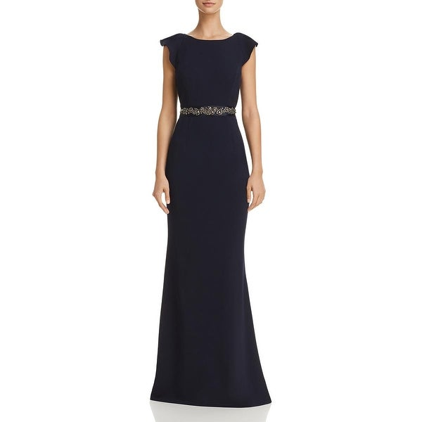 Adrianna Papell Womens Long Crepe Dress