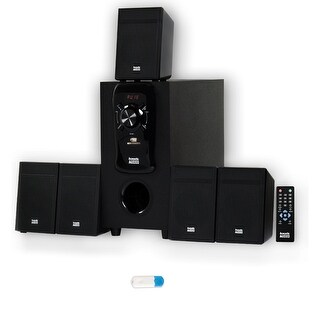 Acoustic Audio AA5150 Home Theater 5.1 Speaker System with USB Bluetooth