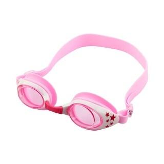 Silicone Belt Clear Vision Anti Fog Swim Goggles Glasses Pink White for Child