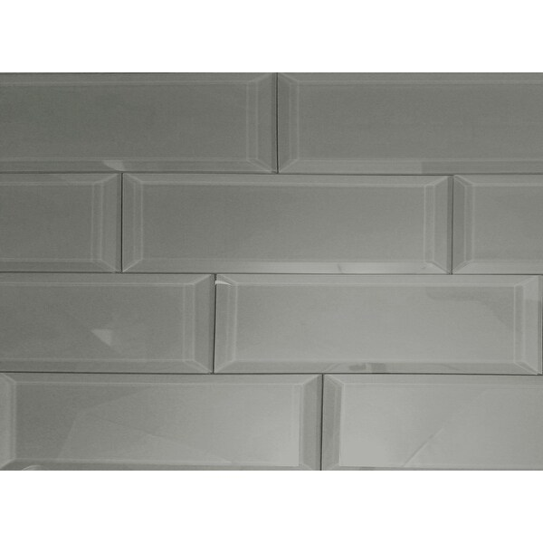 "Miseno MT-WHSFEG0312-JO Frosted Elegance - 3"" x 12"" Rectangle Wall Tile - Glossy Visual - Gray"