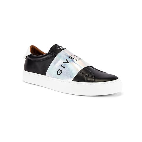 GIVENCHY Men's Silver Panel Urban Street Sneakers Black