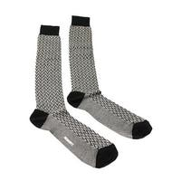 Missoni GM00CMU5240 0004 Black/Gray Knee Length Socks - L