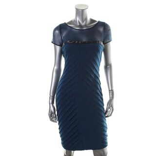 Calvin Klein Womens Matte Jersey Knee-Length Cocktail Dress - 10