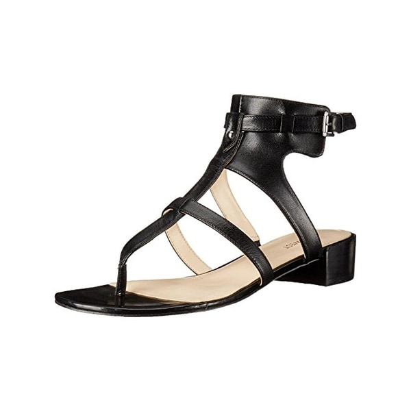 Nine West Womens Just Nice Dress Sandals Leather T-Strap