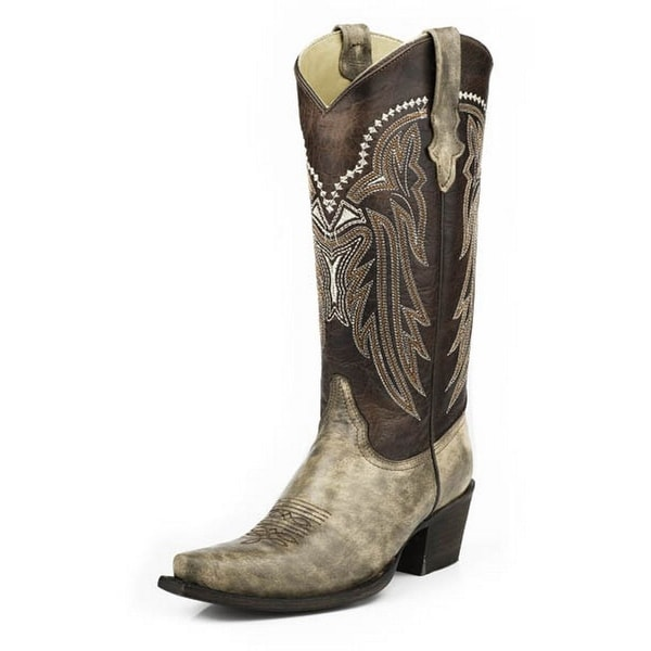 Stetson Western Boot Womens Marble Snip Tan