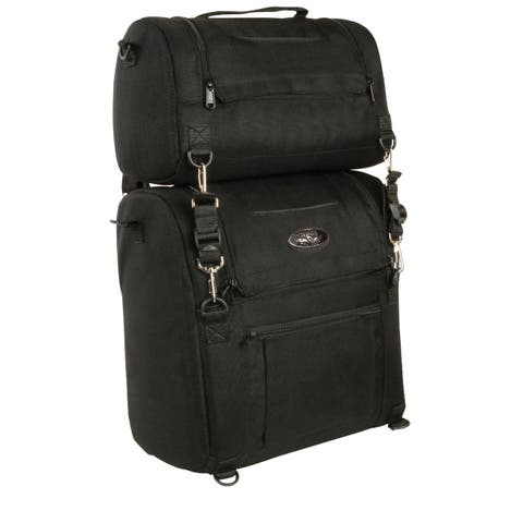 Medium Textile Motorcycle Sissy Bar Bag 14X16X10 - One Size