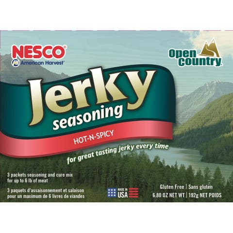 Nesco BJH-6 Jerky Spice Works, Hot-N-Spicy Flavor, Includes 3 Seasoning and 3 Cure Packets