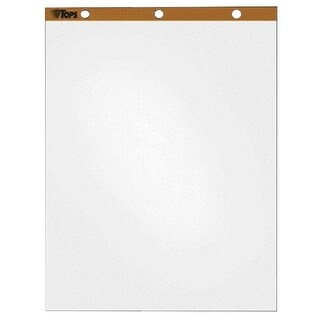 """Tops Plain Easel Pad, 27"""" x 34"""", 50 Sheets, White, Pack of 4"""