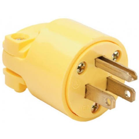 Pass & Seymour 4867YCC10 Commercial Grade Plug, 15A, 125V, Yellow