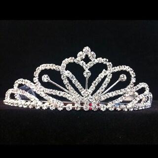Crystal Rhinestone Royal Court Communion Flower Girl Tiara
