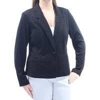 KENSIE Womens Black Polka Dot Blazer Wear To Work Jacket  Size: L