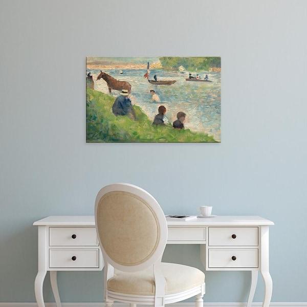 Easy Art Prints 's 'Study Bathers at Asnieres' Premium Canvas Art