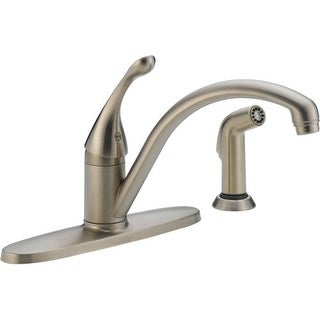 Delta 440-DST Collins Kitchen Faucet with Side Spray and Optional Base Plate - Includes Lifetime War