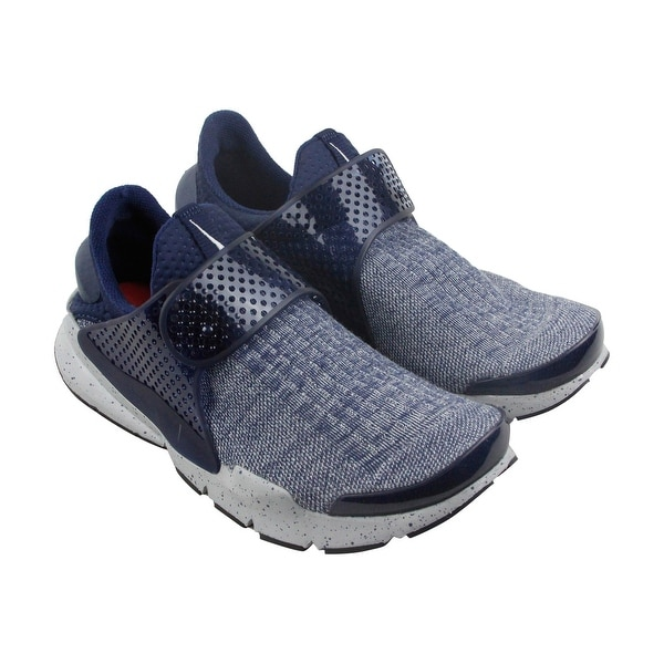 Nike Sock Dart Se Premium Mens Blue Textile Athletic Lace Up Running Shoes