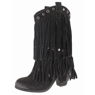 Naughty Monkey Kickin It Women's Western Fringe Cowboy Boots