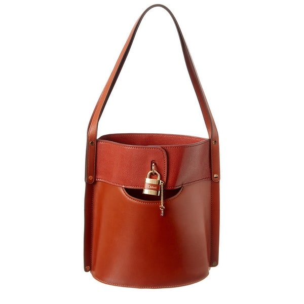 Chloe Aby Medium Leather Bucket Bag. Opens flyout.