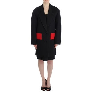 KAALE SUKTAE Black Coat Trench Long Draped Jacket Blazer