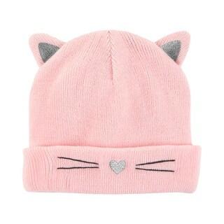 Carter's Baby Girls' Pink Cat Hat