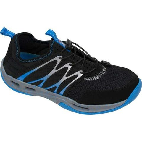 0f89e402d7dd Rugged Shark Men s Starboard Lace Up Black Synthetic Mesh