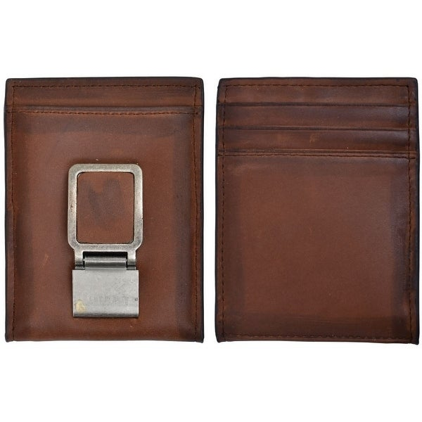 3D Western Wallet Mens Leather Bifold Money Clip Brown - One size