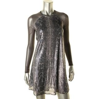 Rachel Rachel Roy Womens Mesh Inset Sequined Cocktail Dress - XS