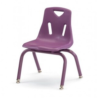 Berries Stacking Chair with Powder-Coated Legs - 8 in. Ht - Purple