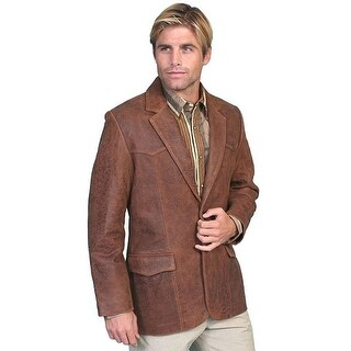 Scully Western Blazer Mens Lambskin Button Back Vent Brown 501-60