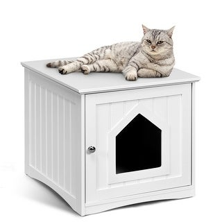 Gymax Weatherproof Multi-function Pet Cat House Outdoor Indoor