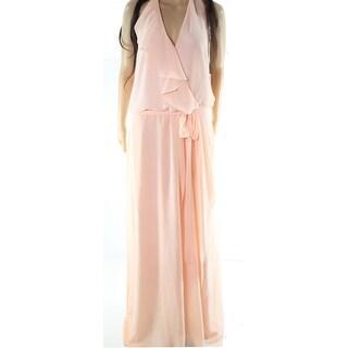 Nouvelle NEW Powder Orange Womens Size Large L Haltered Sheath Dress