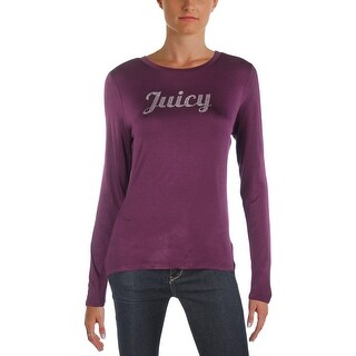 Juicy Couture Womens Pullover Top Rhinestone Logo