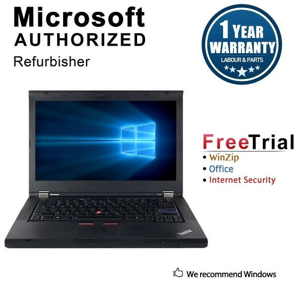 "Refurbished Lenovo ThinkPad T420 14"" Laptop Intel Core I5 2520M 2.5G 12G DDR3 500G DVDRW Win 10 Professional 64 1 Year Warranty"
