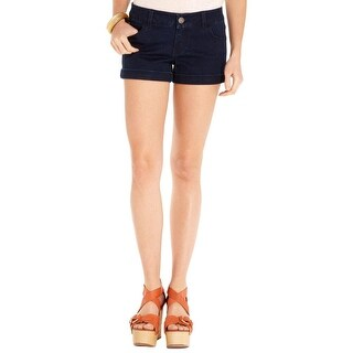 Celebrity Pink Womens Juniors Casual Shorts Cuffed Flat Front - 5