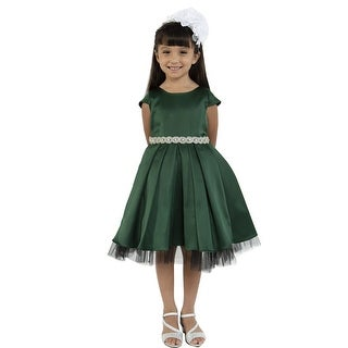 Link to Kids Dream Girls Hunter Green Satin Rhinestone Trim Christmas Dress Similar Items in Girls' Clothing