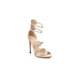 Giambattista Valli Multi-Strap Suede Beige Sandals Size 36 / 6