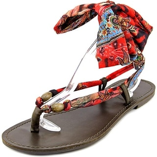 Mia Drina Women Open Toe Canvas Thong Sandal