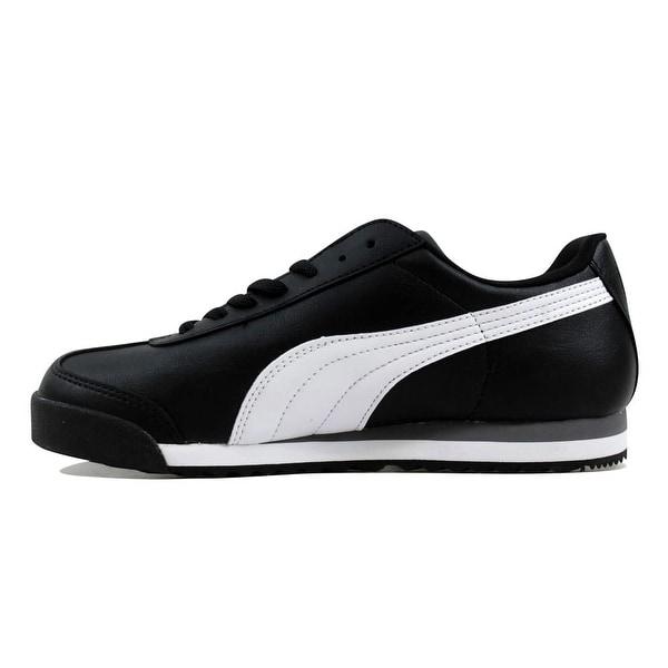 Shop Puma Roma Basic Jr Black/White