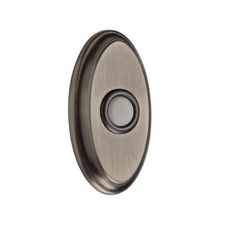 Baldwin BR7016 Solid Brass Oval Illuminated Bell Button from the Reserve Collection