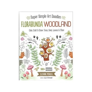 Design Originals Florabunda Woodland Art DoodlesBk