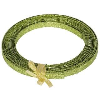 23' X 1/2'' Lime Glitter Ribbon