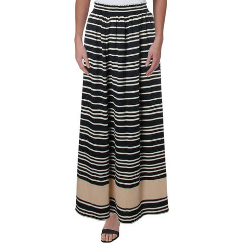 Rachel Rachel Roy Womens Sunset Maxi Skirt Striped Pull On