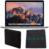 "Apple 13.3"" MacBook Pro (Space Gray) 256GB SSD #MPXV2LL/A + Padded Case For Macbook + Fibercloth Bundle"