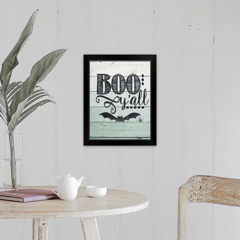 """Boo Y'all"" Black Framed Print"